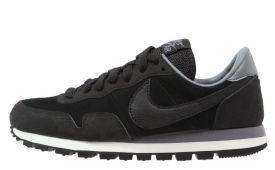 nike-air-pegasus-83-dames-sneaker-kunststof-textiel-leer-zwart-grijs